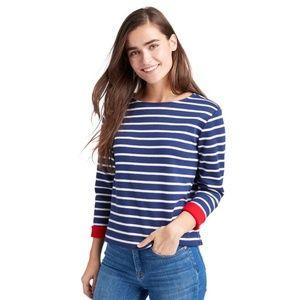 Vineyard Vines Blue Striped Lining Fleece Pullover